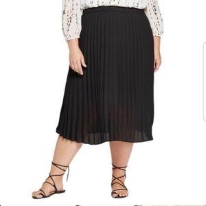 Ava and Viv Pleated Midi Skirt